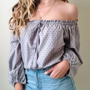 NWT Victoria's Secret grey off the shoulder top